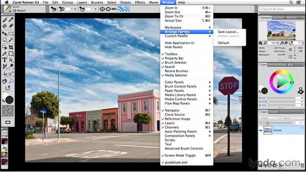 Arranging palettes: Painter 2015 Essential Training