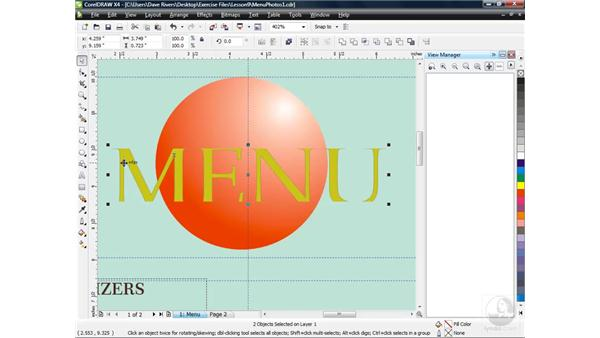 Cropping bitmap images: CorelDRAW X4 Essential Training