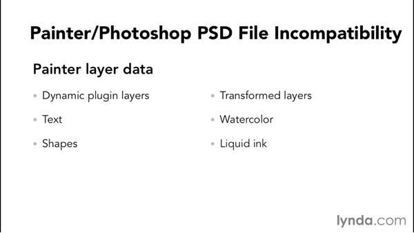 The PSD format: understanding what's compatible and what's not: Painter 2015 Essential Training