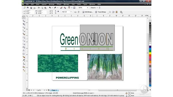 PowerClipping objects inside one another: CorelDRAW X4 Essential Training