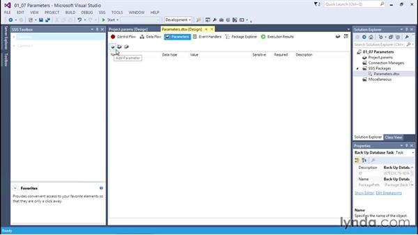 Understanding parameters: SQL Server Integration Services