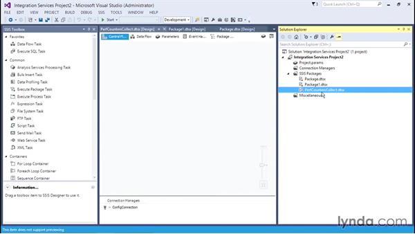 Creating SQL Server Integration Services packages: SQL Server Integration Services