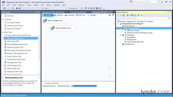 Utilizing connection managers: SQL Server Integration Services