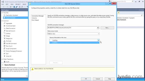 The Source and Destination Assistants: SQL Server Integration Services