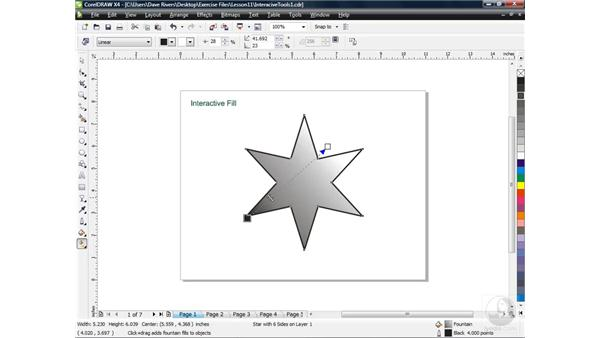 Filling objects with the Fill tool: CorelDRAW X4 Essential Training