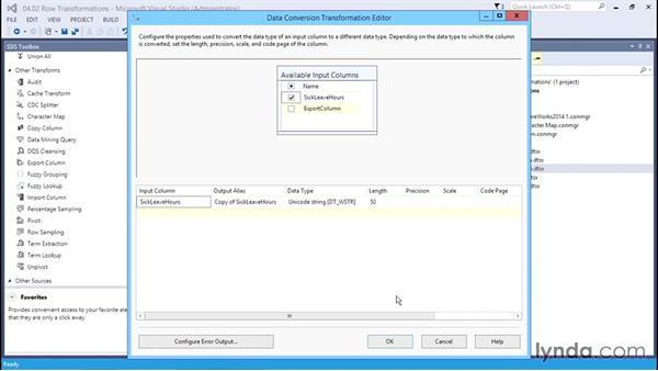 Examining the Row transformations: SQL Server Integration Services
