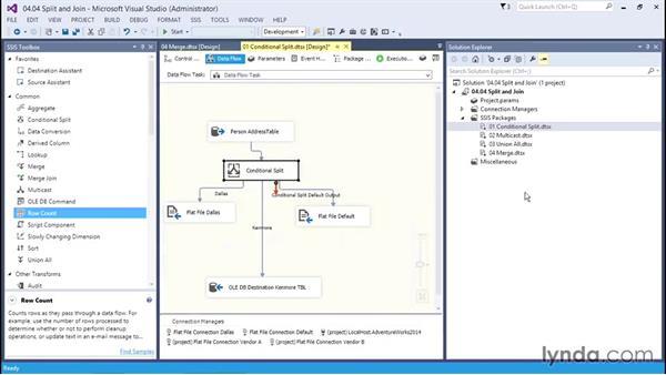 Examining Split and Join transformations: SQL Server Integration Services