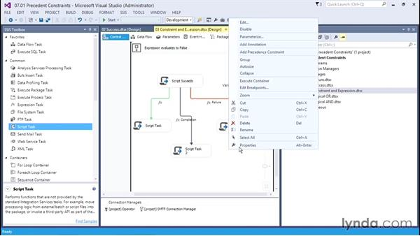 Designing to troubleshoot: Using precedence constraints: SQL Server Integration Services