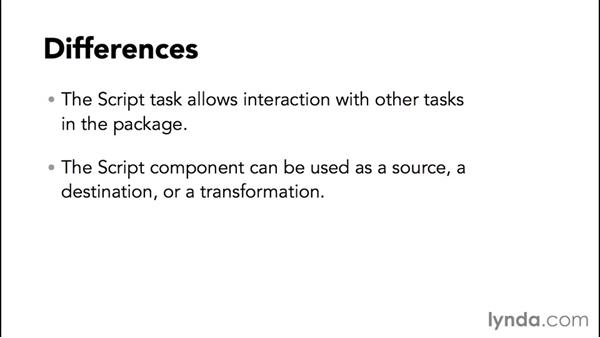 Choosing the Script task or Script component: SQL Server Integration Services