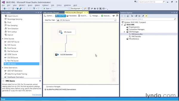 Working with XML: SQL Server Integration Services