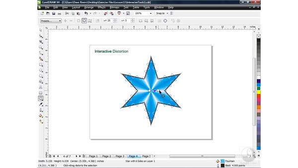 Creating distortion with the Distortion tool: CorelDRAW X4 Essential Training