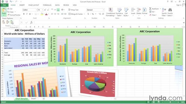 Converting charts into pictures: Excel Tips Weekly