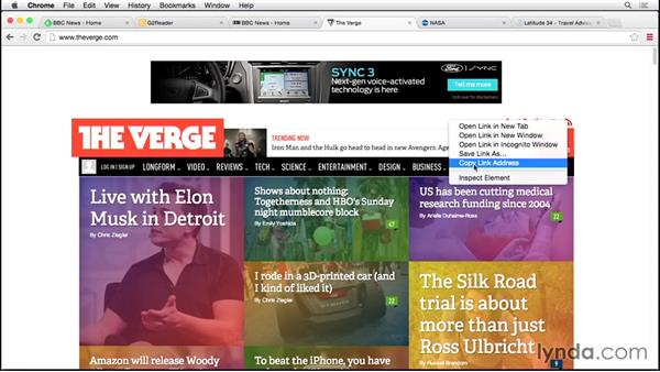 Finding, and subscribing to, RSS feeds: Up and Running with RSS and Podcast Subscriptions