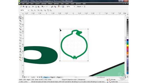 Adding and changing perspective: CorelDRAW X4 Essential Training