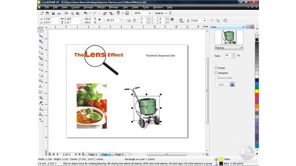 Using the Lens effect: CorelDRAW X4 Essential Training