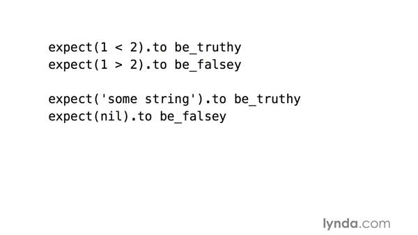 Truthiness matchers: RSpec Testing Framework with Ruby