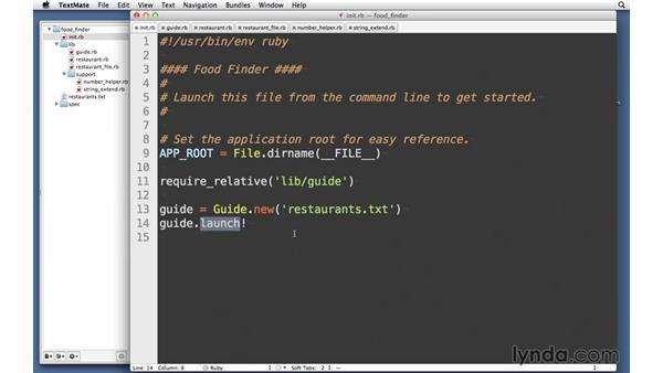 Food-finder application: RSpec Testing Framework with Ruby