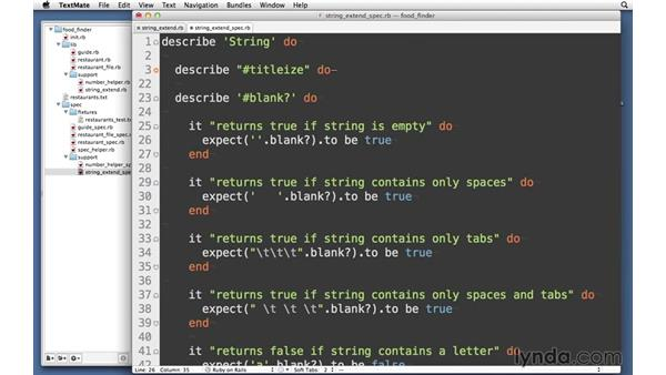 Solution: StringExtend: RSpec Testing Framework with Ruby