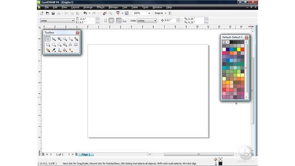 Customizing your workspace: CorelDRAW X4 Essential Training