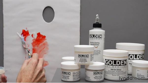 Altering paint with water and mediums: Foundations of Acrylic Painting