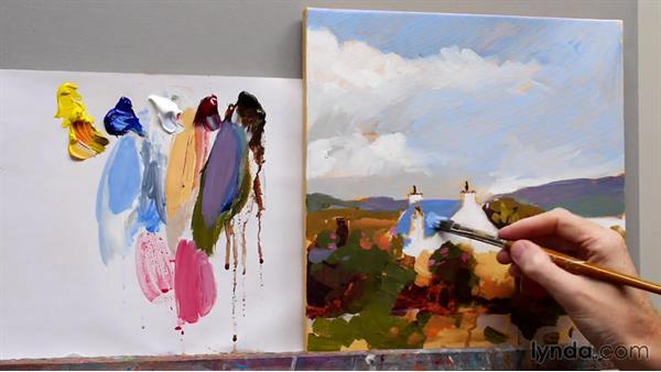 Adding glazes: Foundations of Acrylic Painting