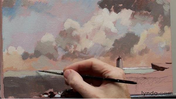 Landscape techniques: Adding color to the landscape: Foundations of Acrylic Painting