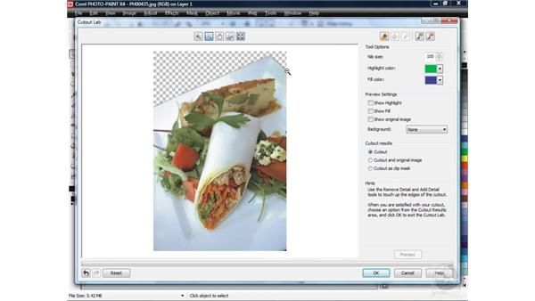 Corel PHOTO-PAINT pt. 2: The Cutout Lab: CorelDRAW X4 Essential Training