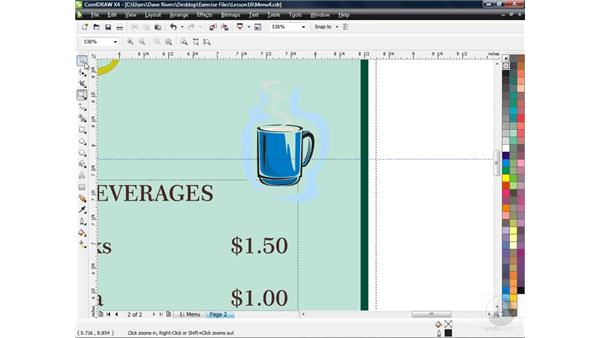 Using the Extras Collection and raw images: CorelDRAW X4 Essential Training