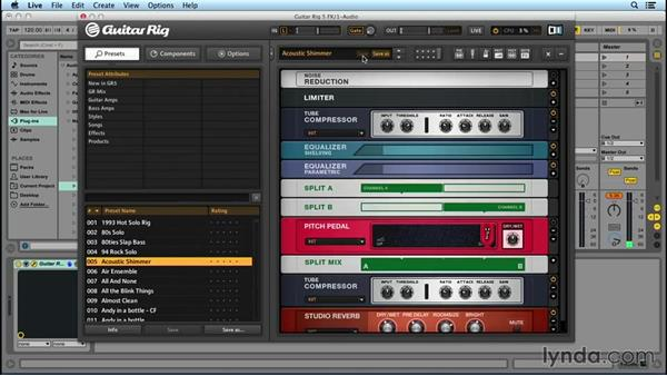 GUITAR RIG basics: Up and Running with GUITAR RIG