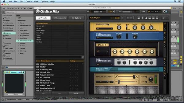 Processing synths, drums, and vocals with GUITAR RIG: Up and Running with GUITAR RIG