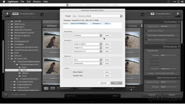 Renaming images in Lightroom: Editing GoPro HERO Photos and Videos with Lightroom and Photoshop