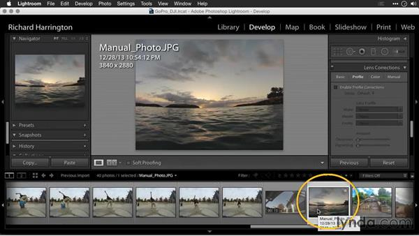 Removing distortion with lens profiles in Lightroom: Editing GoPro HERO Photos and Videos with Lightroom and Photoshop