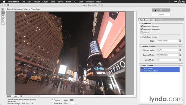 Removing distortion with Upright: Editing GoPro HERO Photos and Videos with Lightroom and Photoshop