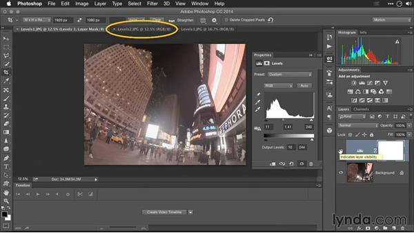 Using Levels adjustments: Editing GoPro HERO Photos and Videos with Lightroom and Photoshop
