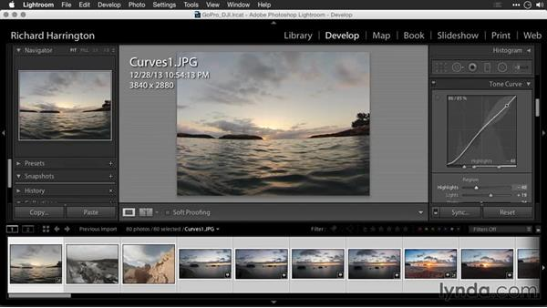 Using Curves adjustments: Editing GoPro HERO Photos and Videos with Lightroom and Photoshop