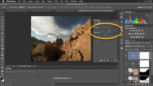 Improving exposure by using blending modes to combine multiple images: Editing GoPro HERO Photos and Videos with Lightroom and Photoshop