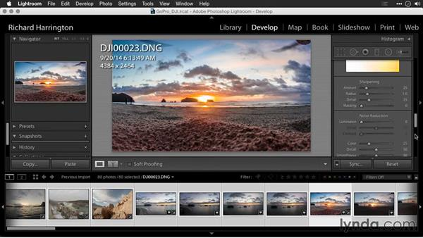 Using Adobe Camera Raw to fix exposure for raw files: Editing GoPro HERO Photos and Videos with Lightroom and Photoshop