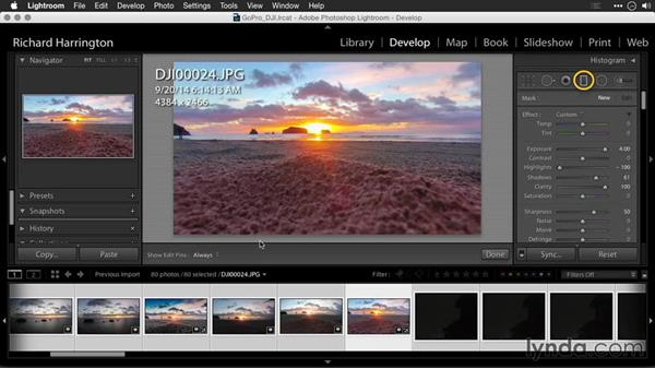 Using Adobe Camera Raw to fix exposure for JPEG files: Editing GoPro HERO Photos and Videos with Lightroom and Photoshop
