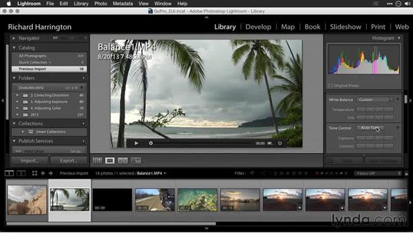 Fixing color balance in shots: Editing GoPro HERO Photos and Videos with Lightroom and Photoshop
