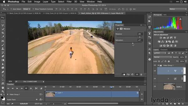 Improving saturation and vibrance: Editing GoPro HERO Photos and Videos with Lightroom and Photoshop
