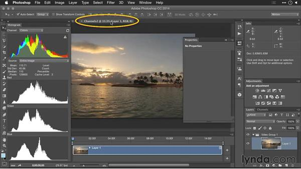 Adjusting colors using channels adjustments: Editing GoPro HERO Photos and Videos with Lightroom and Photoshop
