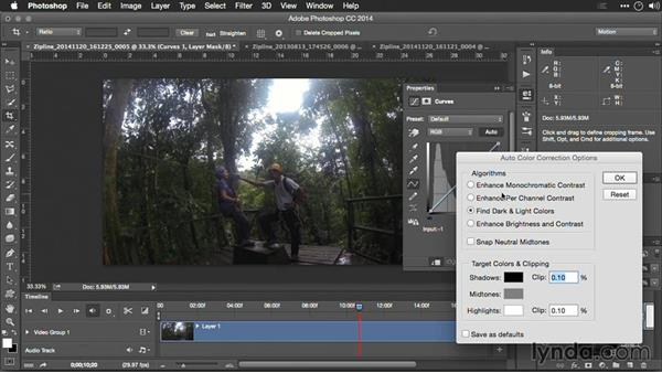 Enhancing video with adjustment layers in Photoshop: Editing GoPro HERO Photos and Videos with Lightroom and Photoshop