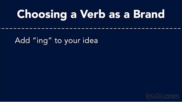 Using verbs: Top 5 Tips for Naming Your Brand