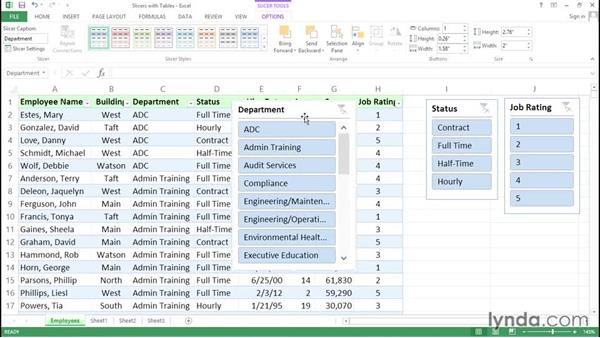 Enhancing table filtering with slicers: Excel Tips Weekly