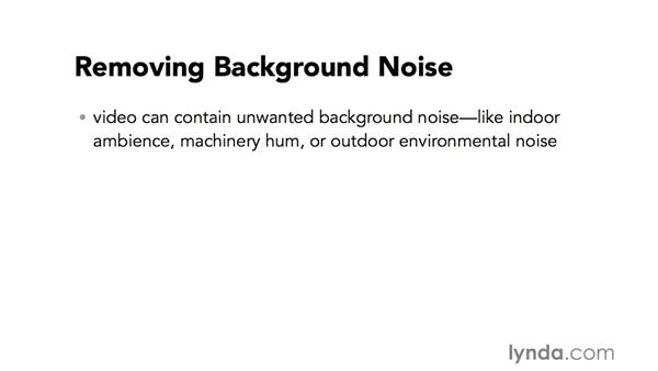 Introduction to background noise removal: Video Post Tips Weekly
