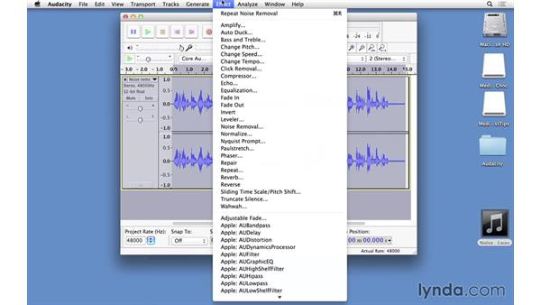 Removing background noise using Audacity: Video Post Tips Weekly
