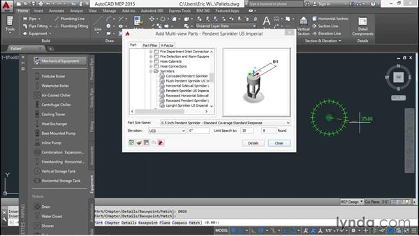 Setting up the tool palettes: Creating Sprinkler and Fire-Alarm Systems with AutoCAD