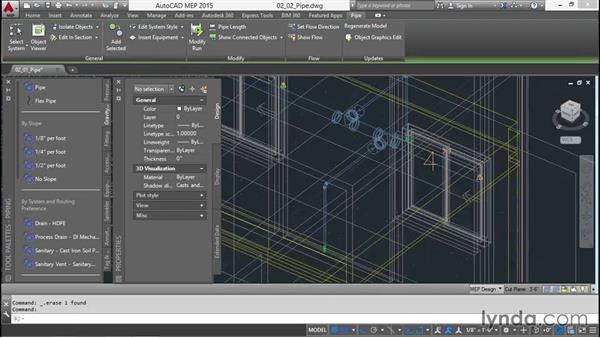 Adding sprinkler piping: Creating Sprinkler and Fire-Alarm Systems with AutoCAD