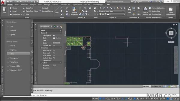Adding in schedules: Creating Sprinkler and Fire-Alarm Systems with AutoCAD