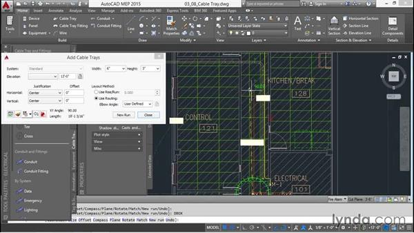 Adding the cable tray: Creating Sprinkler and Fire-Alarm Systems with AutoCAD